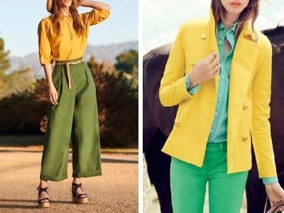 Pantalón Verde con Amarillo