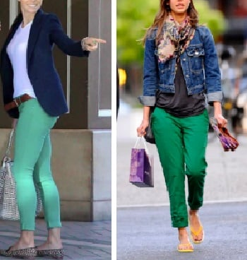 Pantalón Verde con Azul
