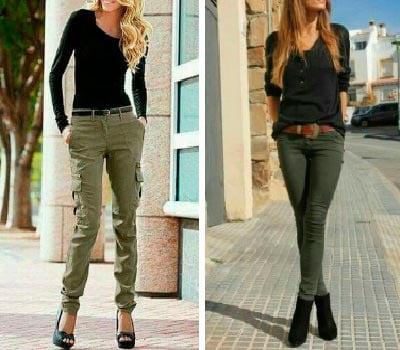 Pantalón Verde con Negro